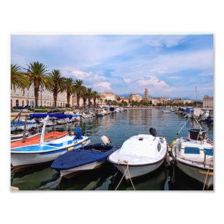 Riva waterfront, Split, Croatia Photo