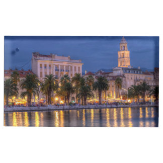 Riva waterfront, Split, Croatia Place Card Holder