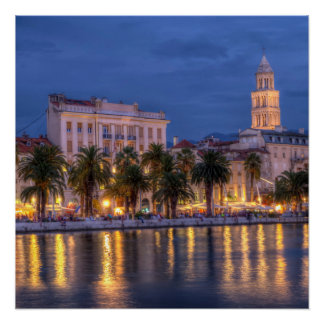 Riva waterfront, Split, Croatia Poster