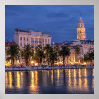 Riva waterfront, Split, Croatia Poster