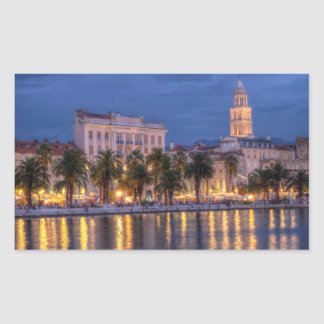 Riva waterfront, Split, Croatia Rectangular Sticker