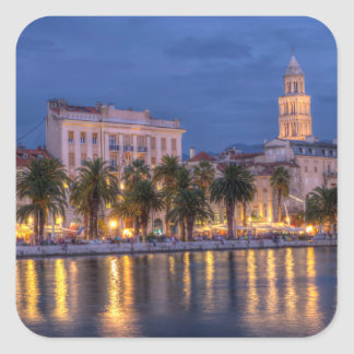 Riva waterfront, Split, Croatia Square Sticker