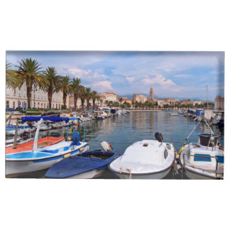 Riva waterfront, Split, Croatia Table Card Holder