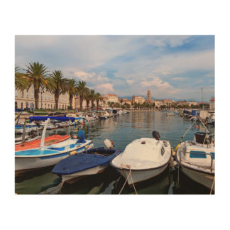 Riva waterfront, Split, Croatia Wood Prints