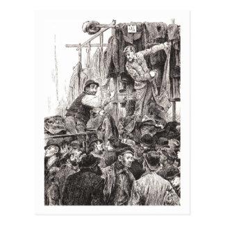 Rival Dealers In Petticoat Lane Postcard
