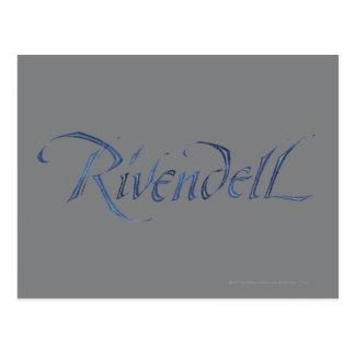 Rivendell Name Textured Postcard