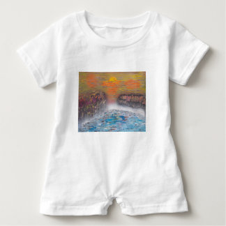 River above the falls baby bodysuit