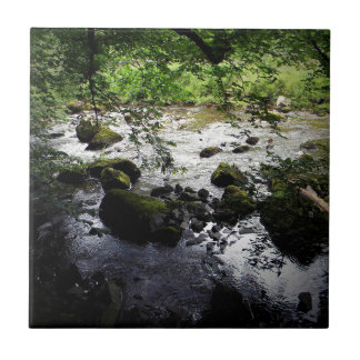 River and rocks Peace Photo Small Square Tile
