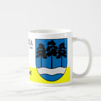 River and Trees Nature Shield from Ogre Latvia Coffee Mug