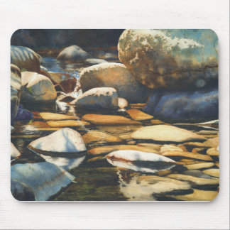 River and wildlife designs by Mary Rollins Mouse Pad
