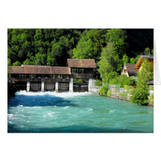 River at Interlaken west in Switzerland Card