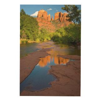 River at Red Rock Crossing, Arizona Wood Canvas