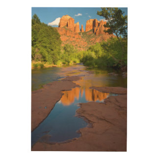 River at Red Rock Crossing, Arizona Wood Print