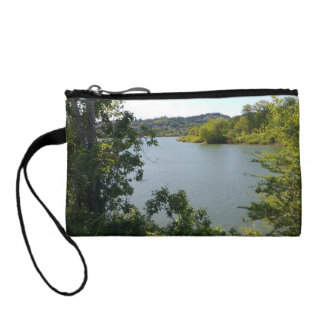 River Beyond the Trees Wristlet or Key Clutch