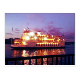 River Boat Savannah Georgia Postcard