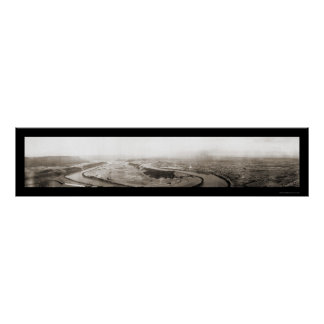 River & Chattanooga TN Photo 1909 Poster