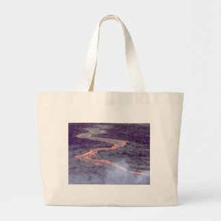 river churn of lava large tote bag