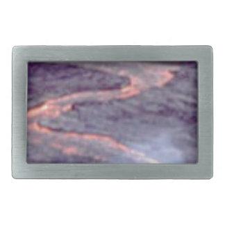river churn of lava rectangular belt buckles