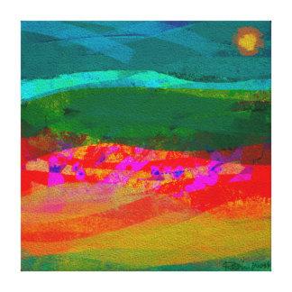 River Coast at Sundown Gallery Wrap Canvas