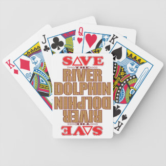 River Dolphin Save Bicycle Playing Cards