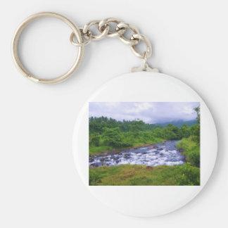 River Falls Basic Round Button Key Ring