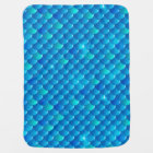 river fish scales baby blanket