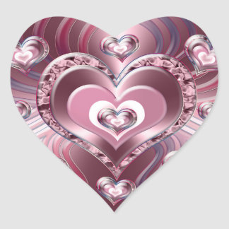 River Flowing Hearts Heart Sticker