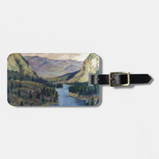 """""""River Flows On"""" Luggage Tag"""
