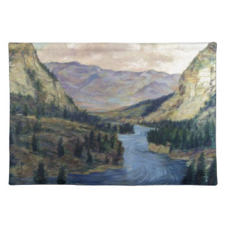 River Flows On Placemat