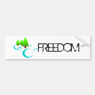 River Freedom Bumper Sticker