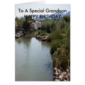 River Grandson Birthday Card