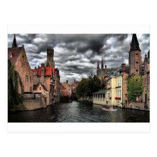 River in Bruges City, Belguim Postcard