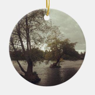 River in Eugene, OR Ceramic Ornament