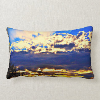 River In the Clouds Lumbar Pillow