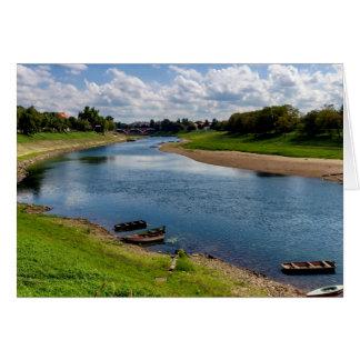 River Kupa in Sisak, Croatia Card