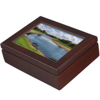 River Kupa in Sisak, Croatia Keepsake Box