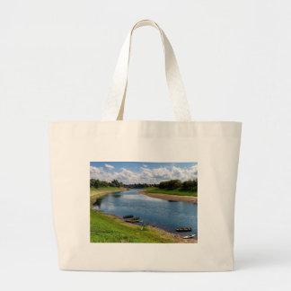 River Kupa in Sisak, Croatia Large Tote Bag