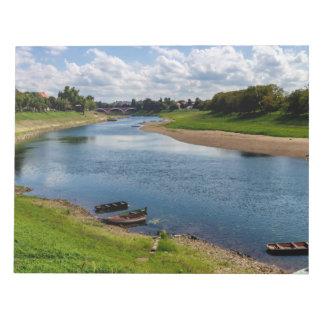 River Kupa in Sisak, Croatia Notepad