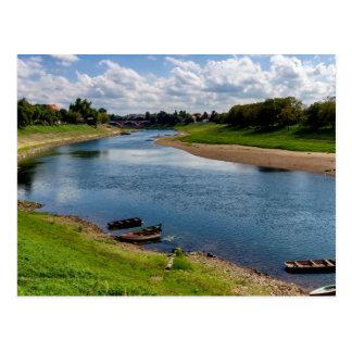 River Kupa in Sisak, Croatia Postcard