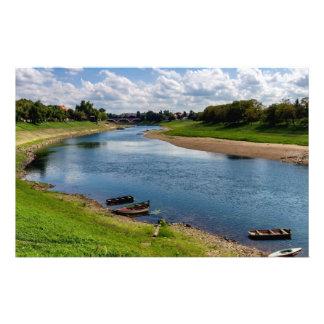 River Kupa in Sisak, Croatia Stationery