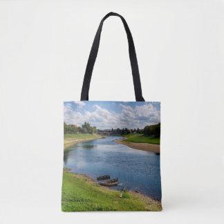 River Kupa in Sisak, Croatia Tote Bag