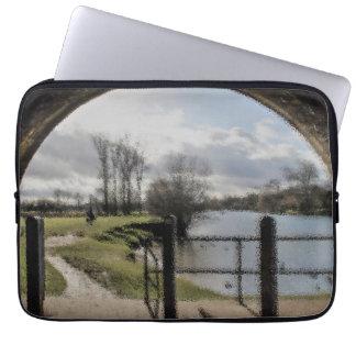 River Landscape Laptop Sleeve