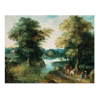 River Landscape Postcard