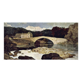 River Landscape With Cattle Herd By John Sell Cotm Personalized Photo Card