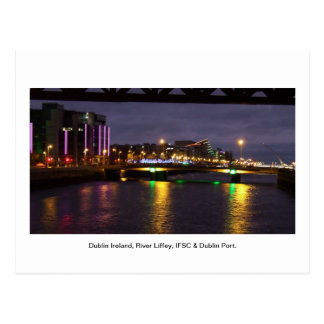 River Liffey Ireland IFSC Dublin Port Post Cards