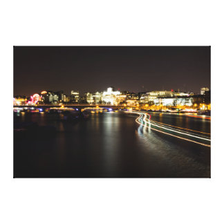 River Light Trails Canvas Print
