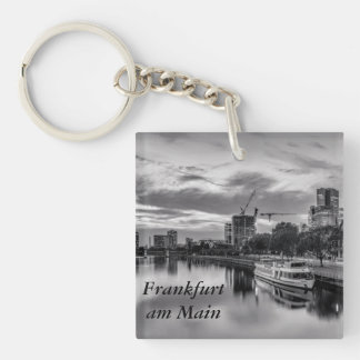River Main in Frankfurt am Main Single-Sided Square Acrylic Key Ring