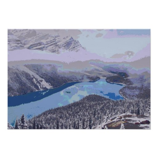 river mountains poster
