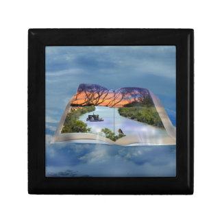 River Murray, Page In A Book, Small Square Gift Box