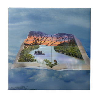 River Murray, Page In A Book, Small Square Tile